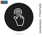touch   outline icon. editable... | Shutterstock .eps vector #773447638