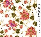 seamless pattern. golden... | Shutterstock . vector #773455114