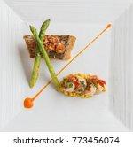 high end cuisine fish fillet...   Shutterstock . vector #773456074