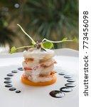 haute high end cuisine gourmet... | Shutterstock . vector #773456098