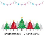 merry christmas and happy new... | Shutterstock .eps vector #773458843