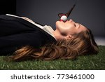 side view of seductive woman... | Shutterstock . vector #773461000