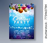 merry christmas party fliyer... | Shutterstock .eps vector #773463784