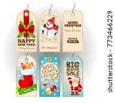 tags with new year and... | Shutterstock .eps vector #773466229