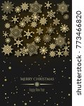 vector merry christmas and... | Shutterstock .eps vector #773466820