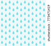 blue raindrops. abstract... | Shutterstock .eps vector #773471419