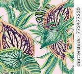 vector seamless botanical... | Shutterstock .eps vector #773477320