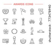 award icon set. high quality... | Shutterstock .eps vector #773478940