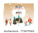 hand drawn vector abstract... | Shutterstock .eps vector #773479363