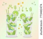 abstract vector icon... | Shutterstock .eps vector #773482474