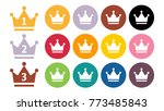 gold crown isolated  vector... | Shutterstock .eps vector #773485843