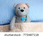 injured teddy bear plasters...   Shutterstock . vector #773487118