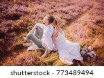the lovely couple in love... | Shutterstock . vector #773489494