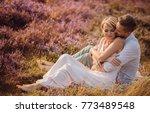 the lovely couple in love... | Shutterstock . vector #773489548