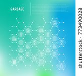 garbage concept in honeycombs... | Shutterstock .eps vector #773490028