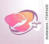 silhouette abstract female body ... | Shutterstock .eps vector #773491630