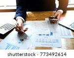 businessman accountant analyze... | Shutterstock . vector #773492614
