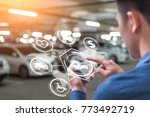 the abstract image of business... | Shutterstock . vector #773492719