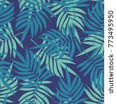 green seamless pattern with... | Shutterstock .eps vector #773495950
