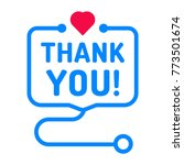 thank you  badge with heart and ... | Shutterstock .eps vector #773501674