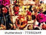 closeup christmas ball is... | Shutterstock . vector #773502649