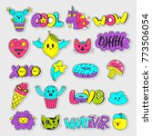 vector patch set   80s 90s... | Shutterstock .eps vector #773506054