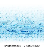 abstract technological... | Shutterstock .eps vector #773507530