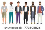 stylish handsome men dressed in ... | Shutterstock .eps vector #773508826