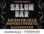 font.alphabet.script.typeface... | Shutterstock .eps vector #773509150