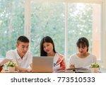 asian college groups of... | Shutterstock . vector #773510533