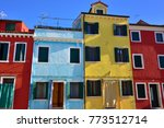 colorful houses on the famous... | Shutterstock . vector #773512714