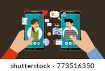 online dating and social... | Shutterstock .eps vector #773516350