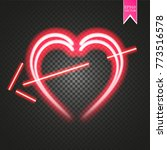 bright neon heart. heart sign... | Shutterstock .eps vector #773516578