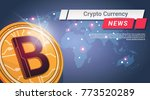crypto currency news golden...   Shutterstock .eps vector #773520289