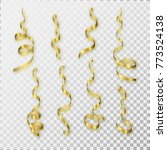 a set of the gold serpentine on ... | Shutterstock .eps vector #773524138