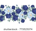 floral seamless pattern. flower ... | Shutterstock .eps vector #773525374