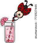 little ladybird drinking... | Shutterstock .eps vector #773527444