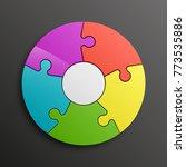 puzzle five piece business...   Shutterstock .eps vector #773535886