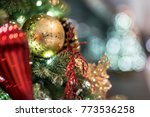 christmas background with... | Shutterstock . vector #773536258