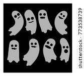 ghost. a set of ghosts.... | Shutterstock .eps vector #773538739