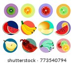 bright and juicy fruits like...   Shutterstock .eps vector #773540794