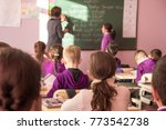 school children are... | Shutterstock . vector #773542738
