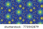 seamless pattern with blue... | Shutterstock .eps vector #773542879