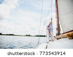 retired marriage sailing on the ... | Shutterstock . vector #773543914