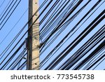 power lines and communication... | Shutterstock . vector #773545738