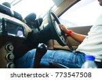 man driving a car   Shutterstock . vector #773547508