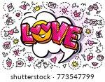 love word bubble. message in... | Shutterstock .eps vector #773547799