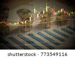 various type of financial and... | Shutterstock . vector #773549116