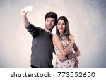 a young couple in love taking... | Shutterstock . vector #773552650