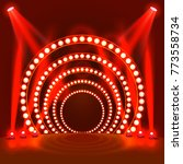 show light podium red... | Shutterstock .eps vector #773558734